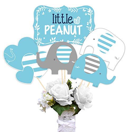 r Dekorationen Elephant Boy Mittelstücke Sticks Kit Table Toppers Baby Elephant Ausschnitte Little Peanut für Birthday Party Supplies ()