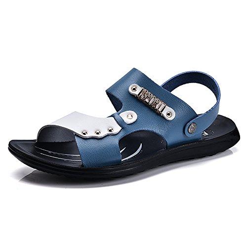 SITAILE Herren Junge Junge Sommer Flache Hausschuhe Sport Outdoor Sandalen Slipper Zehentrenner Männer Sandalen Schuhe Blau