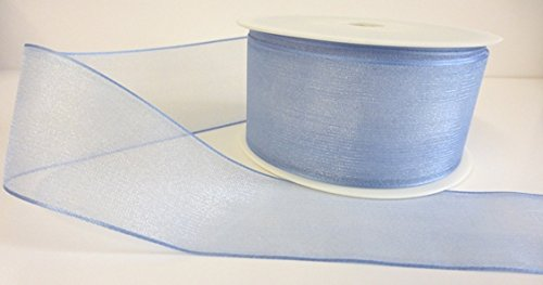 1-metre-trim-of-baby-blue-sheer-organza-luxury-ribbon-40mm-wide