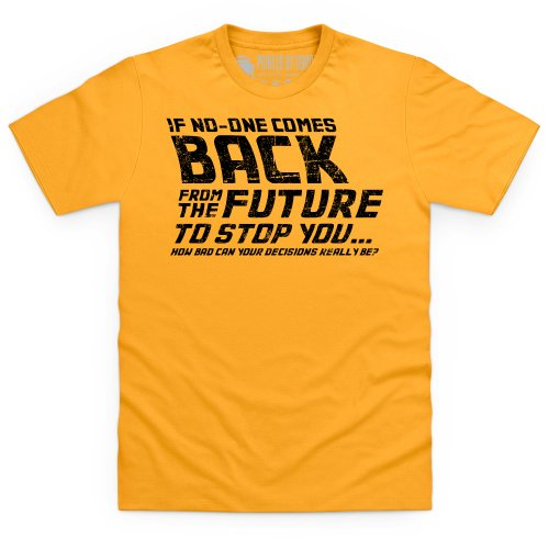 Back From The Future T-Shirt, Herren Gelb