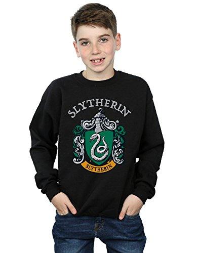 Harry Potter Jungen Slytherin Crest Sweatshirt Schwarz 12-13 Years Crest Pullover Sweatshirts