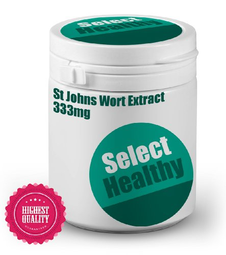 Select Healthy St Johns Wort Extract 333mg - 180 tablets - UK Sourced Free UK Delivery Test