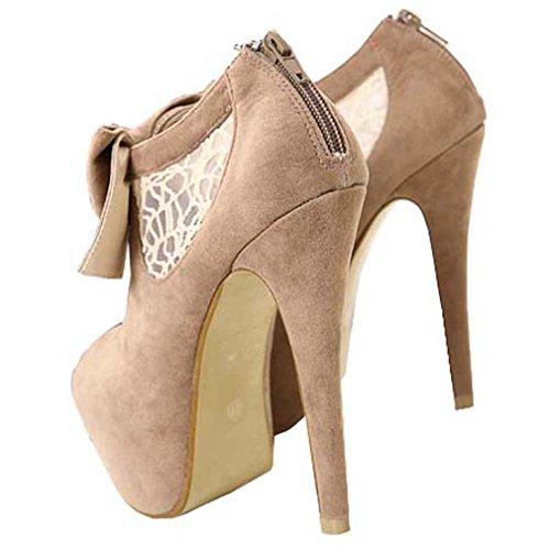 Solshine , chaussures compensées femme Camel