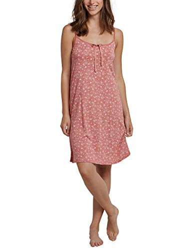 Schiesser Damen Sleepshirt Spaghetti, 90cm Nachthemd, Rot (Terracotta 532), 40 (Herstellergröße: 040) - Polo Nachtwäsche