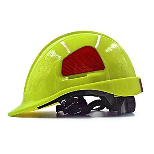 Mechaniker Weibliche Kostüm - WYNZYSLBD BAU Hüte Hat Gerüste Klettern Luftarbeit Schutzhelm Helm Mit Kinnriemen Bauarbeiter Helm Mit Belüftung Schutzhelm (Color : Green)