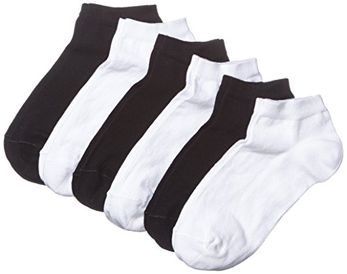 MyWay Damen Sneaker Socken, 6er Pack, Gr. 39/42, Schwarz (black/white 968)