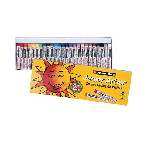 Cray Nicht Junior Schachtel 12Pastellkreide, Öl Farben Sortiment Ergänzende Modern 25 Pastels ø8mm Assortiment Complémentaire