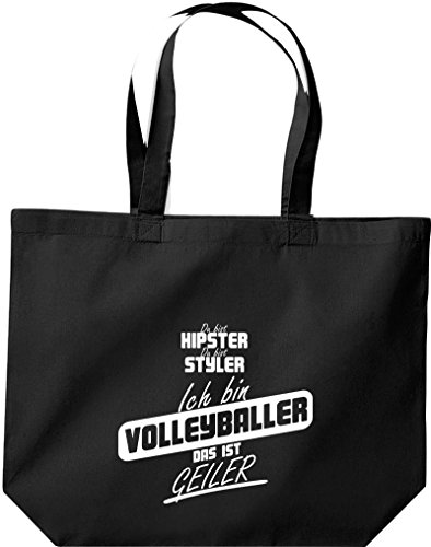 Grande Shopping Bag Shirtstown, Shopper Sei Hipster Sei Styler Sono Pallavolo Che È Nero Corneo
