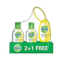 Dettol 3 Pieces Fresh Hand Sanitizer With Bag Tag - 50 ml