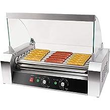 Hot-Dog-Grill Hot Dog Gerät Maker Hotdog Rollen Grill Edelstahl 11 Rollen 2200 W