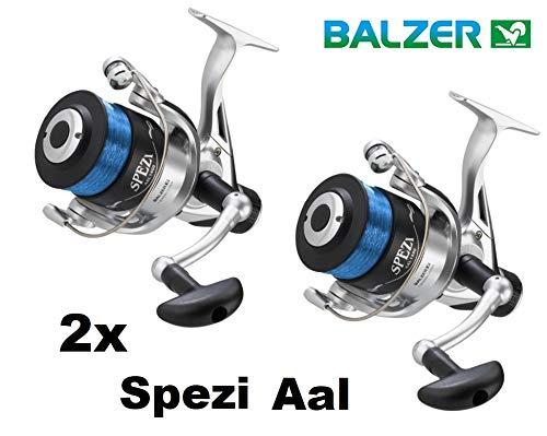 Balzer 2X Spezi 100 Aalrolle Paarpreis Set Angelrolle mit Schnur