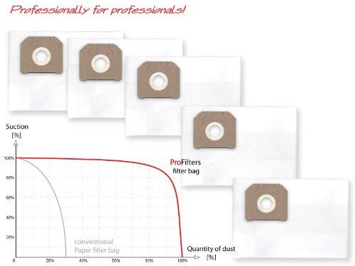 Preisvergleich Produktbild 5x Staubbeutel Filtersack für Nilfisk Attix - 302004000, ALTO 302000449