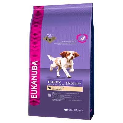 Dog Food Eukanuba Welpenfutter, Lamm und Reis, für empfindliche Welpen Aller Rassen, enthält die Vital Health Formel, Vorteilspackung: 2 x 12 kg