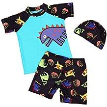47a5fe3a99af JT-Amigo Maillot de Bain Combinaison Anti-UV Bébé Enfant, T-Shirt