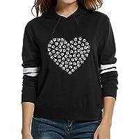 Damen Sweatshirt,Geili Frauen Mode Herz Druck Langarm mit Kapuze Sweatshirt Damen Art und Weise Hoodie Pullover... preisvergleich bei billige-tabletten.eu