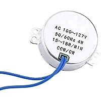 AC 100-127V 4W motor sincrónico 50/60Hz CCW/CW motor para decoración de Navidad/ventilador eléctrico/AC/ambientador de aire caliente/Popcorn Popper. (15-18RPM)