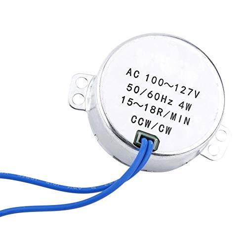 Synchronmotor, Wechselstrom 100-127V 50 / 60Hz 4W zur Belüftung von Ventilatoren, Heizung, Verkaufsregal, Kunsthandwerk, Lampen, Beleuchtung, Spielzeug(15-18RPM)