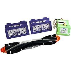 Hannets Batteries, Brosse Ronde et 4 HEPA filtres pour Neato XV de
