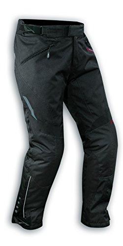 A-Pro Pantaloni Impermeabile Moto Imbottitura Termica Estraibile Traspirante Nero 32
