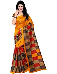Being Banarasi Women's Bhagalpuri Cotton Silk Box Printed Saree With Blouse Piece(BB_Jolly_Color )
