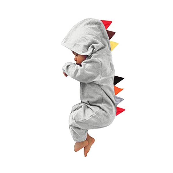 HAOHEYOU Ropa para BebéS,0-24 Meses ReciéN Nacido Infantil Bebé NiñO Chicas Dinosaurio Estilo Labor De Retazos Mameluco… 4