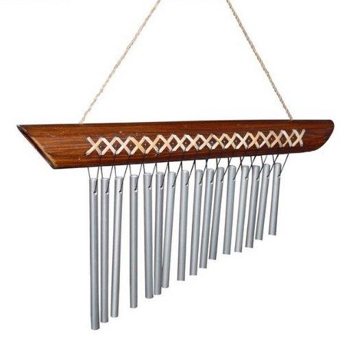 Klangspiel Metall Bambus Windspiel Feng Shui Klang2