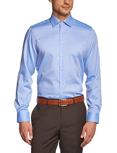 Daniel Hechter Herren Loose Fit Businesshemd Hemd-1/1-Kent 10200 55984, Gr. Large (Herstellergröße: 42), Blau (blue 67)