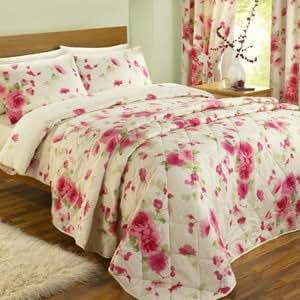 Caprice Pink Bedspread - Single