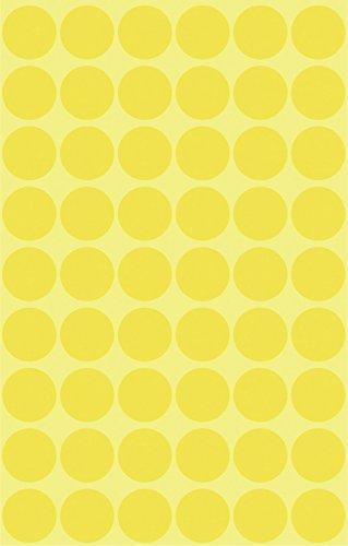Avery 3144 Círculo Amarillo 270pieza(s) - Etiqueta autoadhesiva (Amarillo, Círculo, Papel, 1,2 cm, 270 pieza(s), 54 pieza(s))