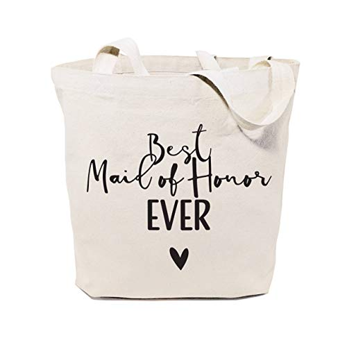 Kate Spade-strand-tasche (Best Maid of Honor Ever Baumwollleinen, für Hochzeit, Strand, Einkaufen und Reisen, wiederverwendbar, Schultertasche und Handtasche für Brautjungfern, Geschenk für Brautjungfern)