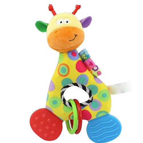 Animal Puppe mit Glocke Soft Plüsch Tier-Spielzeug, Mamum Neugeborenes Baby-Rasseln Beißring mit Glocke Plüsch Spielzeug Bebe Einheitsgröße a - Plüschtiere Soft-plüsch