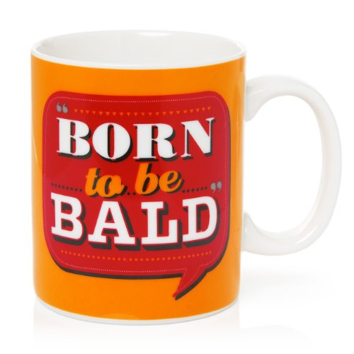 Back Chat Mug en céramique Inscription Born to Be Bald 369 ml