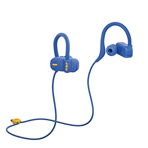 Jam Live Fast Workout Earphones, 10 Metre Bluetooth Range, IP67 Sweat Resistant Earbuds (3 Sizes Included), 12 Hour Battery Life, Hands Free Calling - Blue Best Price and Cheapest