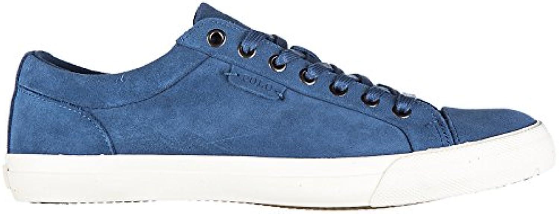 Polo Ralph Lauren Herrenschuhe Herren Wildleder Sneakers Schuhe Blu