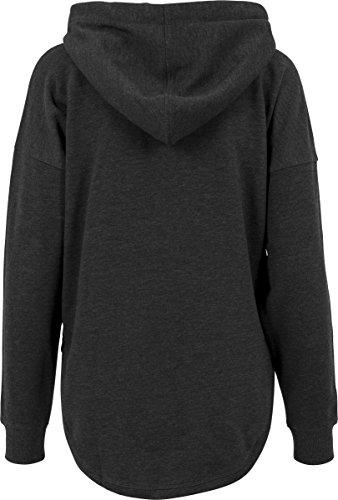 Urban Classics Damen Hoodie Ladies Oversized Terry Hoody, weit geschnittener Kapuzenpullover für Frauen mit abgerundetem Saum, charcoal, Größe XL -