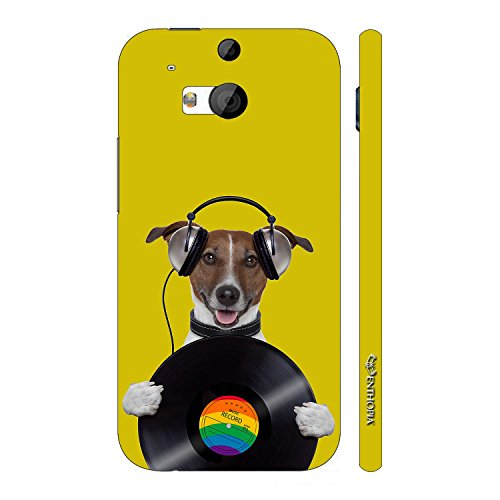 Enthopia Designer Hardshell Case DOG RECORD Back Cover for HTC One M8  available at amazon for Rs.95