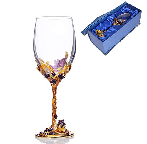ZXMXY Crystal Wine Glasses Klassisches Eminell Carved Wine Water Glass Cup Bleifreies Glas Transparent Goblet Custom-Geschenkverpackung Crystal Crystal Water Goblet