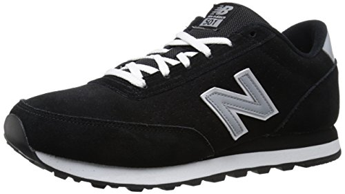 New Balance Mens 501 Suede Classics Traditionnels Suede Trainers Schwarz