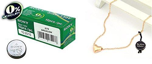 Sony 379 SR521SW Silberoxyd Uhrenbatterie Quecksilberfrei Pack von 10