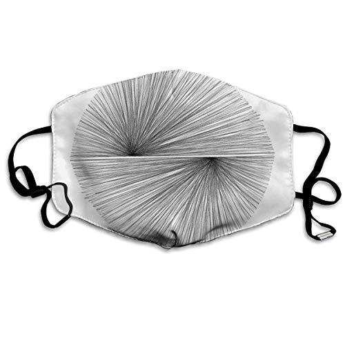 Mid Century Moderne Geometrische Aract Strahlende Linien Anti Staub Gesicht Mundschutz Mundschutz Mundschutz Gesunde Sicherheit Warm Winddicht Maske (Spa-ton-maske)