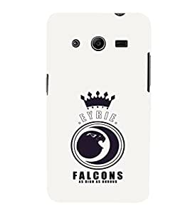 EPICCASE EYRIE Falcons Mobile Back Case Cover For Samsung Galaxy Core 2 (Designer Case)