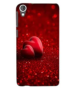 Citydreamz Red Heart\Love\Romance\Valentine Hard Polycarbonate Designer Back Case Cover For HTC Desire 626