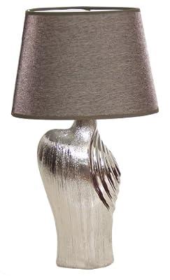 """BRUBAKER Tisch- oder Nachttischleuchte """"Elegance"""" - 47 cm Höhe - in glamourvollem Edel-Design von Allcon - Lampenhans.de"""