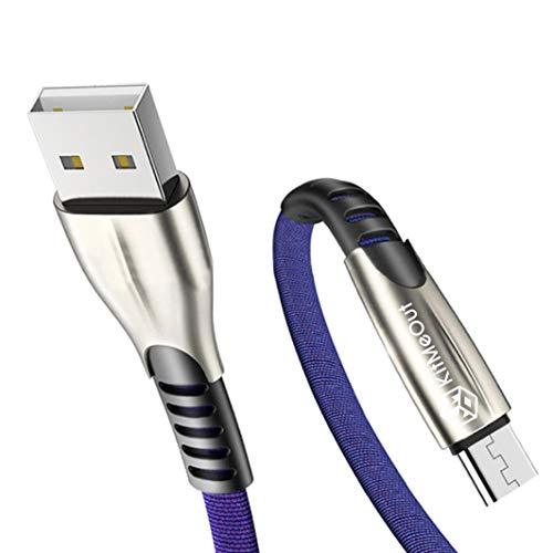 Für Nokia 3310 4G / Nokia 3310 3G / Nokia 3310 (2017) / Nokia 210 [2M] [2-Stück] Datenkabel Micro USB Kabel [USB 3.0] Schnelles Aufladen Synchronisation [2 Amp Schnellladekabel] Nylon Ladekabel - Blau