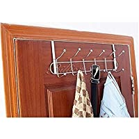 HOME CUBE Metal Chrome Finish Multifunctional Door Hook Organiser/Wall Hook Hanger for Hanging Clothes, Jeans, Umbrellas…