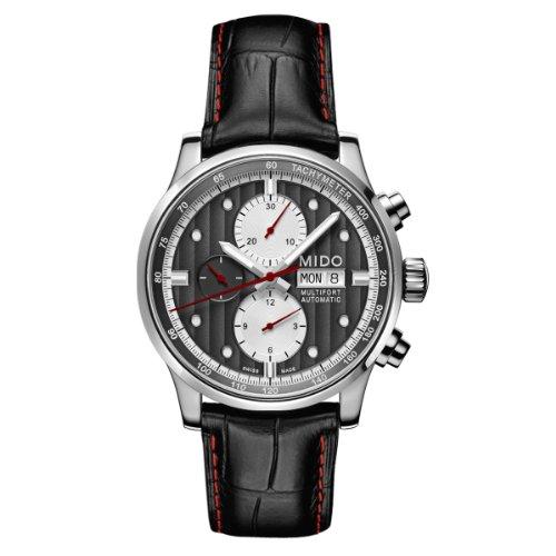 Mido Herren-Armbanduhr XL Multifort Chronograph Automatik Leder M0056141606122