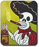Tequila and Cigar Day of The Dead Mouse Pad - by Art Plates