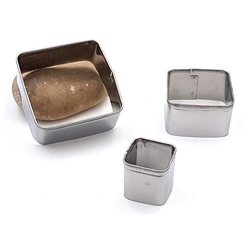 Set de 3 emporte-pièces carrés en métal