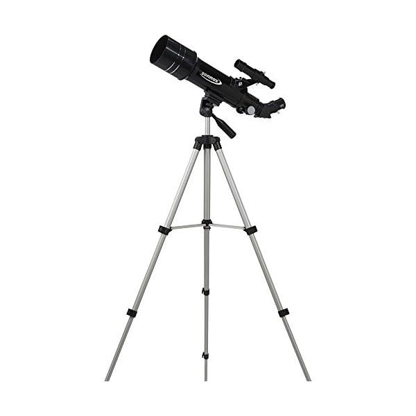 Zennox 70 x 400 Refractor Portable Travel Telescope 400m Focal Length 2x24 Finder Scope Carry Bag Tripod.