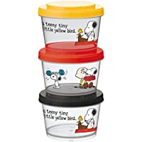 Skater Peanuts Snoopy Snack Containers, Set of 3 by Skater